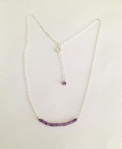 Amethyst Gemstone Necklace 16/17.5 L