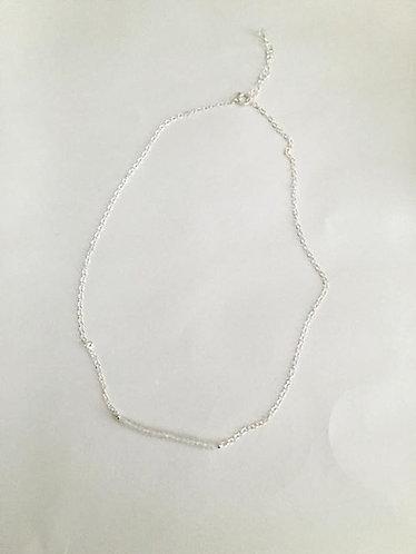 """Quartz Gemstone Necklace 16/17.5""""L"""