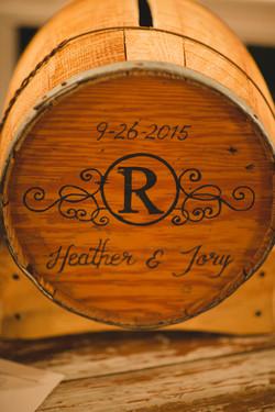Wine Barrel Card Box