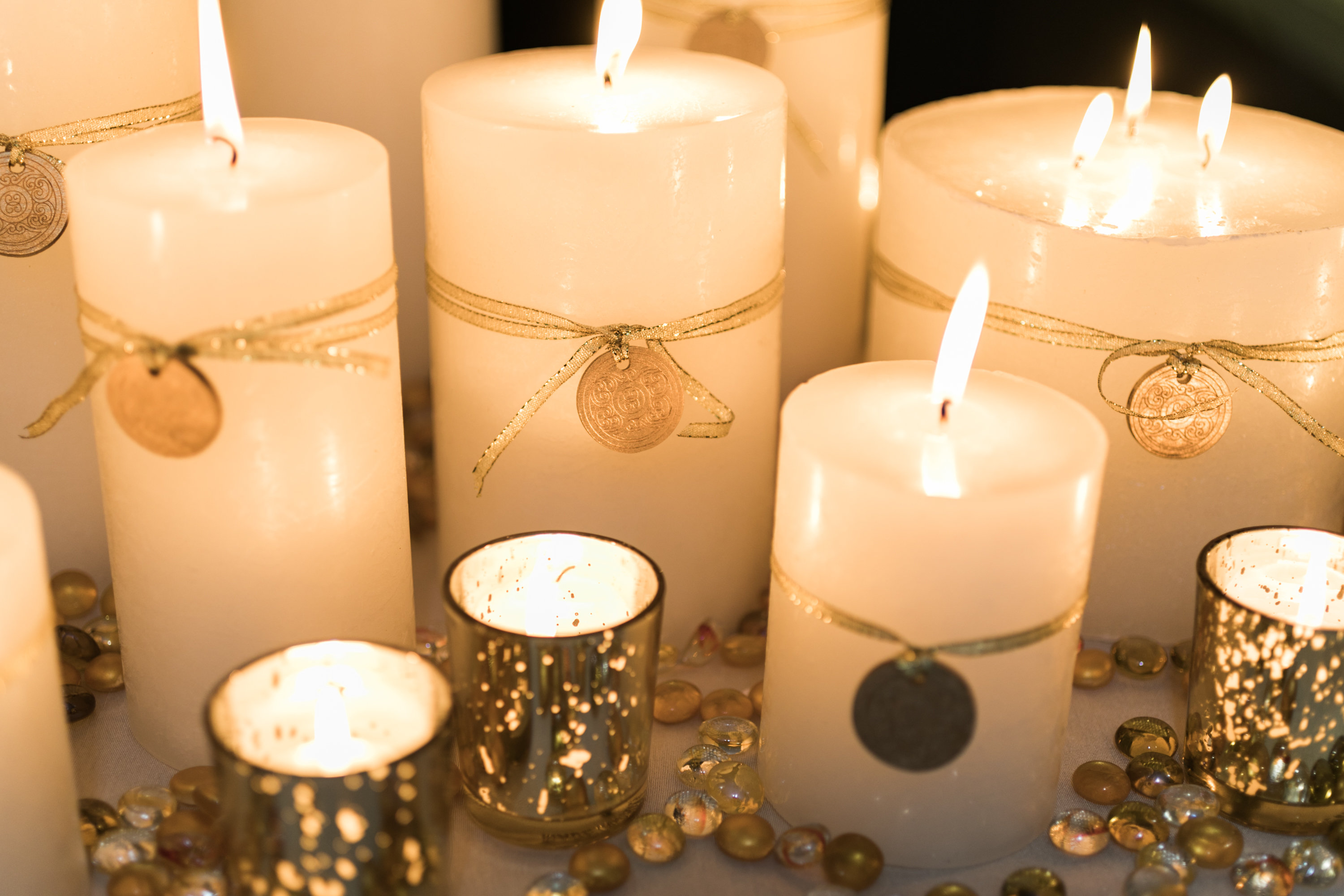 Warm Candle Centerpieces