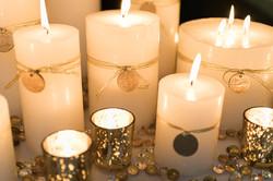 Warm Candle Centerpieces