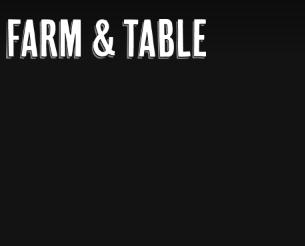 Farm and Table