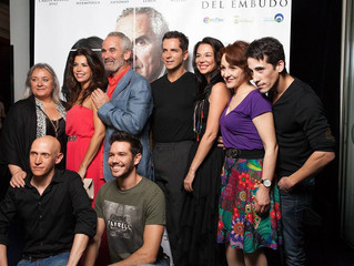 """En el estreno del largometraje """"La Ley del Embudo"""", de Alfredo Carrasco."""