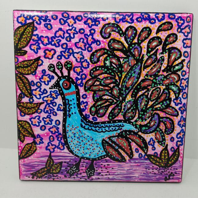 Tile - Peacock debutante