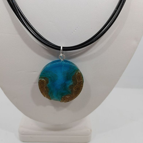 Necklace- Disc of Resin