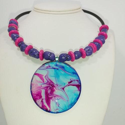 Necklace - Lava lamp