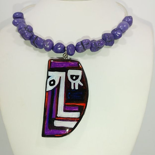 Necklace - Lady in purple