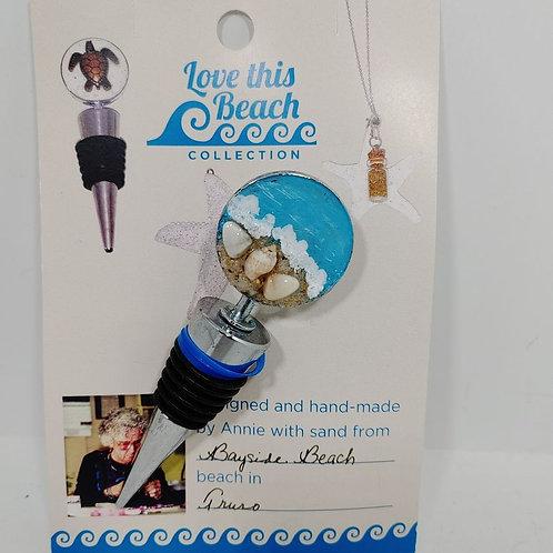 Bottle Stopper Love This Beach