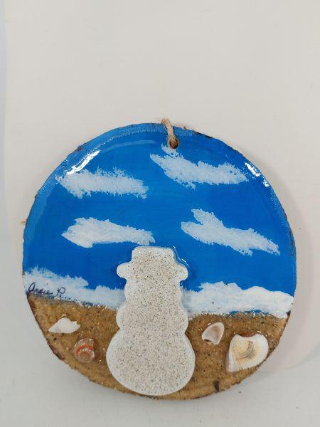 Love this Beach - Snowman ornament 1095-1