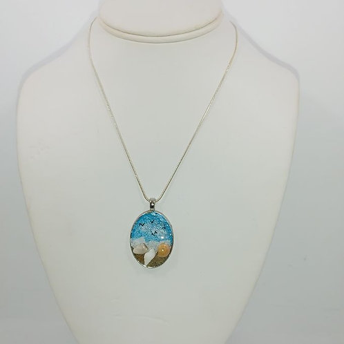 Love This Beach Necklace- Small Oval