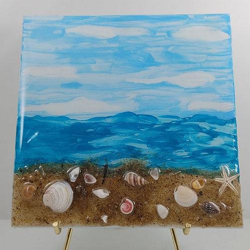Beach Day at Pierce Beach Tile