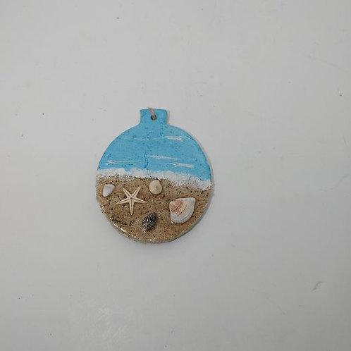 Love This Beach Poly clay ornament
