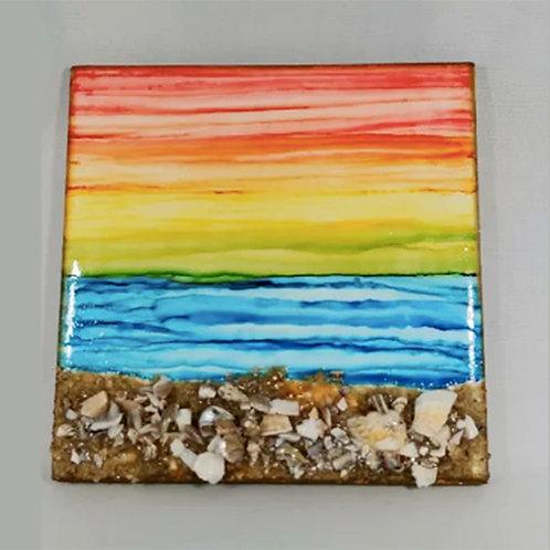 Tile - aka Lisa's Tile Sunset at Pierce's Beach
