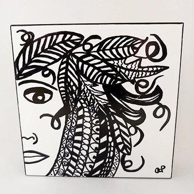 Tile - Feather Hair