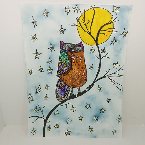 Owl in Moonlight by Annie