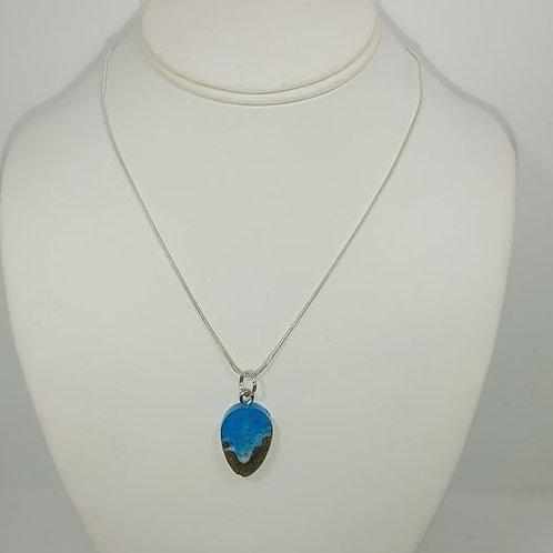 Love this Beach - teardrop resin necklace