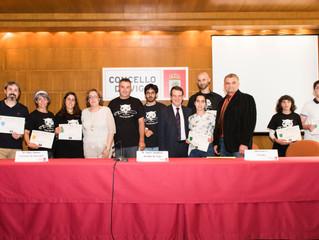 Entrega de diplomas con el alcalde de Vigo