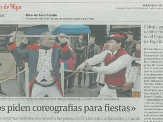 Entrevista a Ricardo Soto en La Voz de Galicia