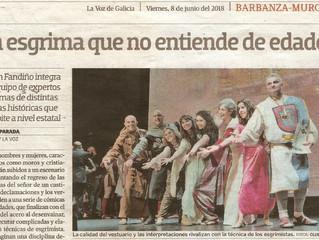 Entrevista a Secundino Fandiño en La Voz de Galicia
