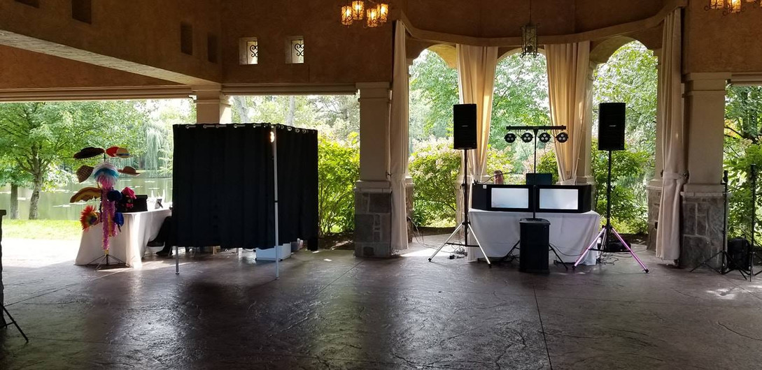 DJ and Photo Booth Set Up