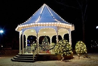 gazebo, wedding ceremony, lake anna, dj