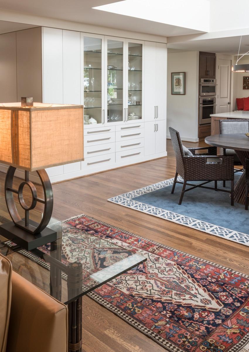 Elegant open plan living space