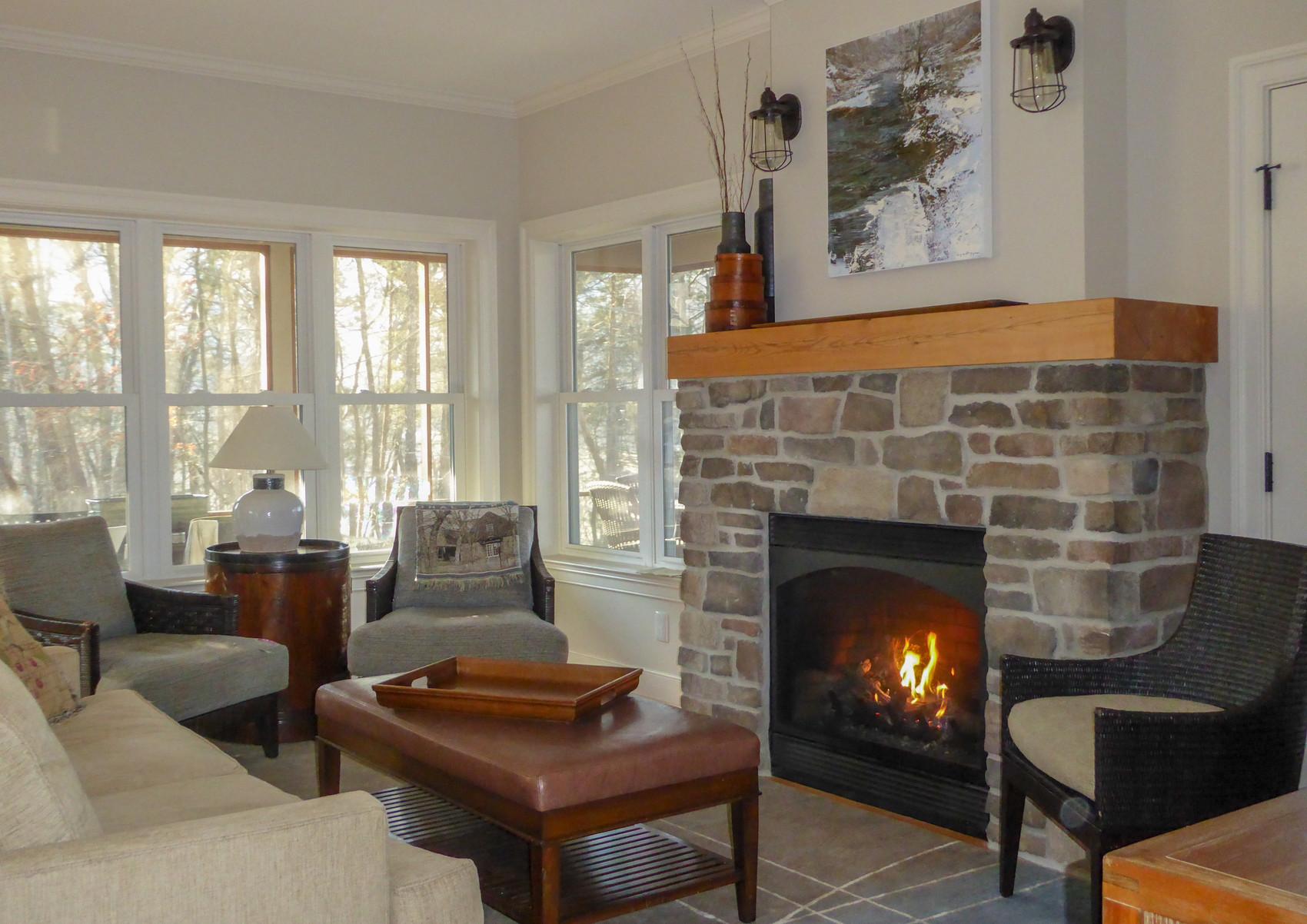 Mountain retreat living area