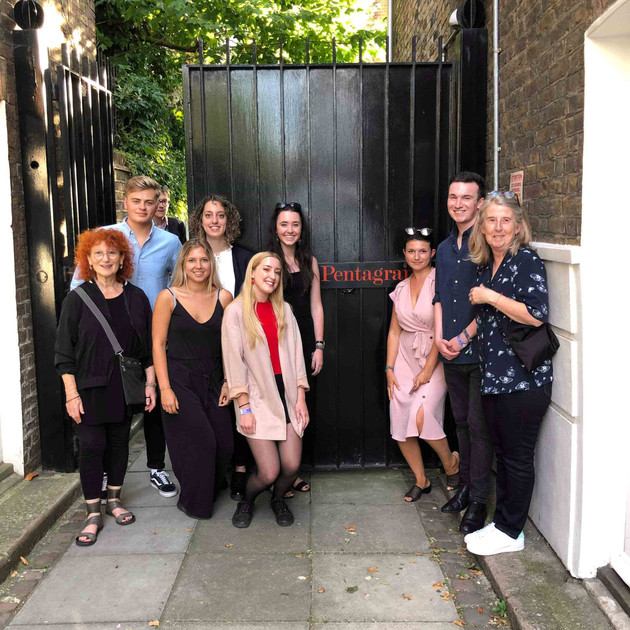 'Typeclub19' with Euginie Dodd and our tutor Sally Hope at the Pentagram for the ISTD Awards 2019.