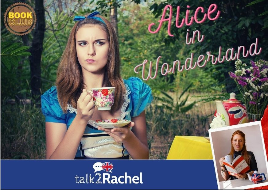 Alice no País das Maravilhas tomando chá
