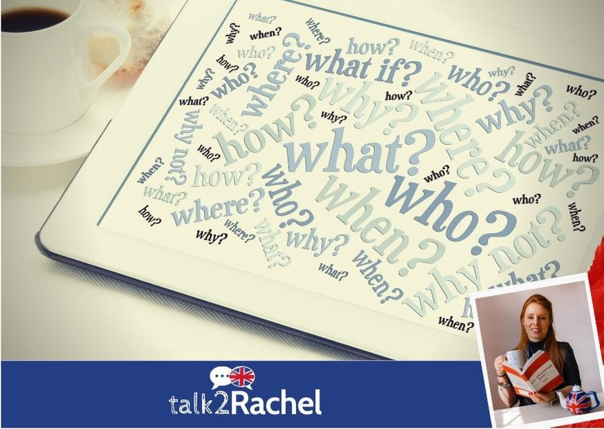 Tablet com Questions Words em inglês