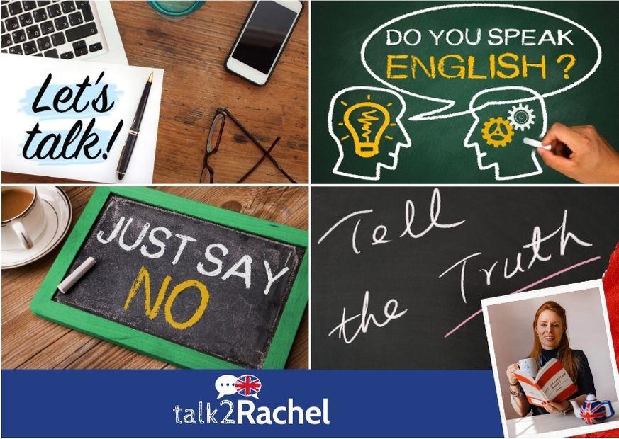 Imagens com os verbos TALK, SPEAK, SAY e TELL.