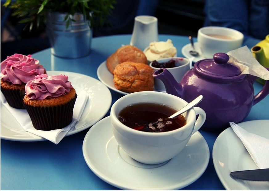 Café tradicional à moda britânica