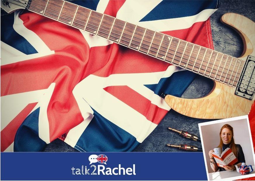 Bandeira britânica e guitarra