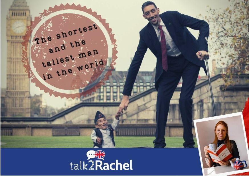 O maior e o menor homem do mundo em Londres