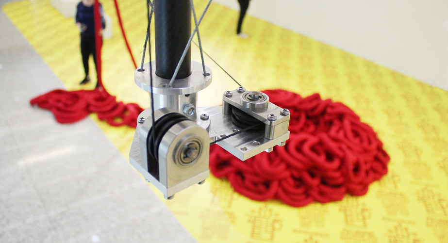 CNC milled pulley mechanism