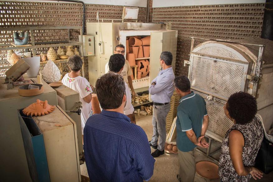 Visita às instalações do Centro de Artesanato Arq. Wilson Campos Jr