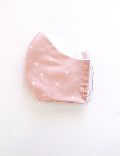 Pink Heart Face Mask
