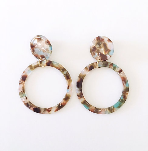 Round Multi Colored Earrings