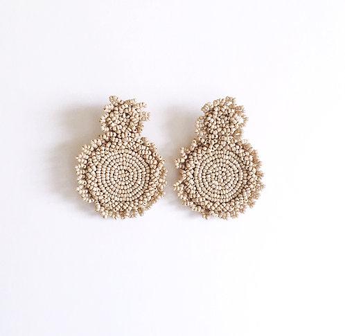 Taupe Seed Bead Earrings