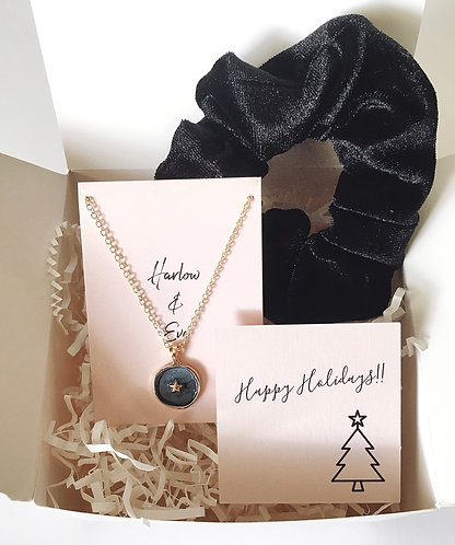 Star Necklace and Scrunchie Gift Box