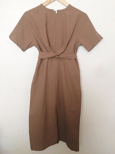 Brown Linen Dress