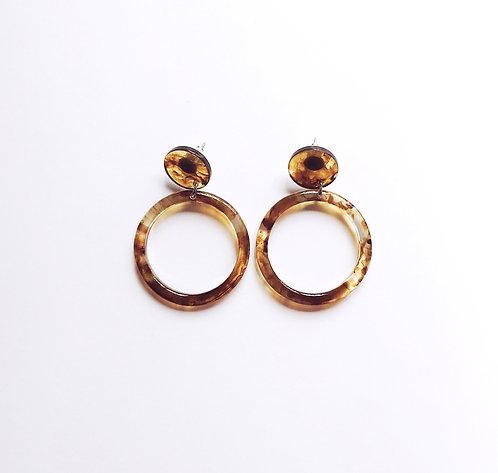 Brown Marble Acrylic Earrings