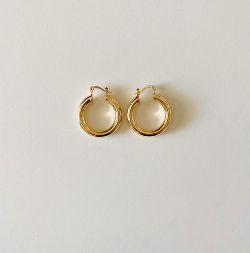 Gold Plated Hoops (29 mm)