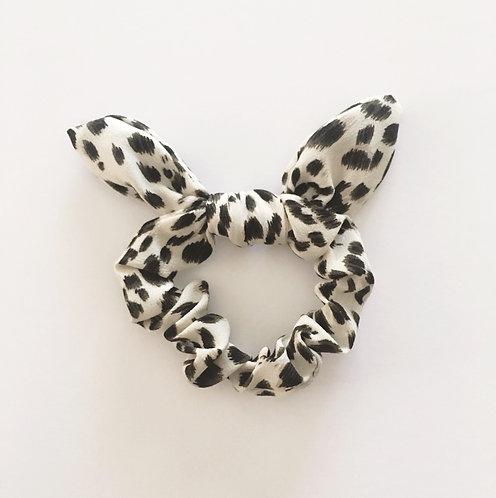 White Leopard Hair Tie