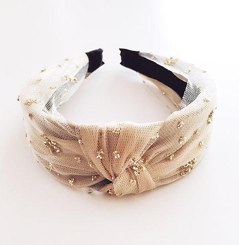 Cream Tulle Headband