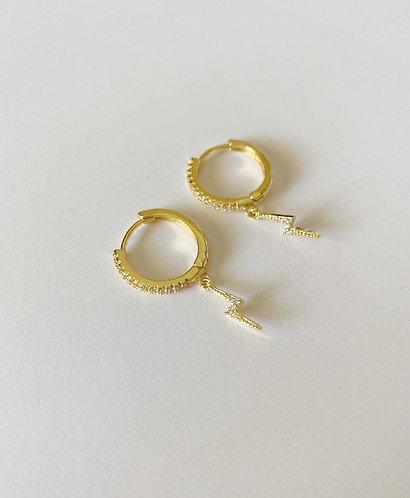 Lightning gold plated earrings