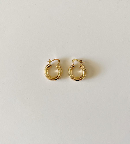 Gold Plated Hoops (22mm)
