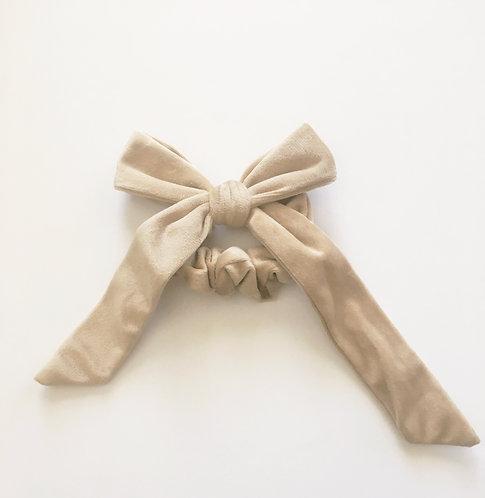 Velvet Tan Hair Tie