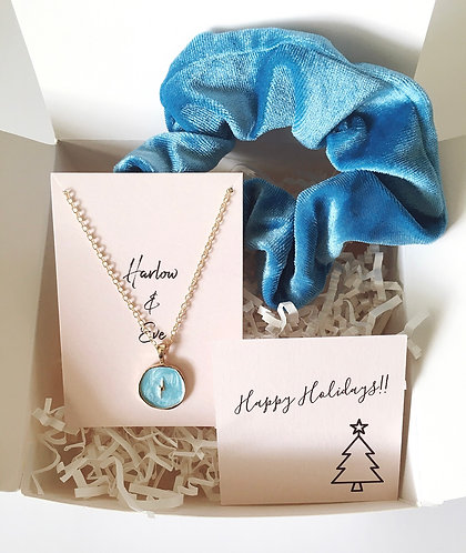 Lightning Bolt Necklace and Scrunchie Gift Box