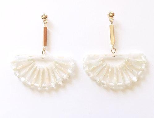 Iridescent Fan Earrings